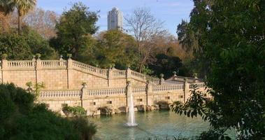 panorama da fonte de barcelona parc de la ciutadella 4k espanha barcelona
