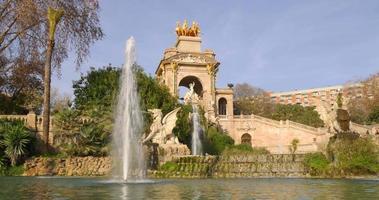 ciutadella parco giornata di sole monumento panorama 4K spagna
