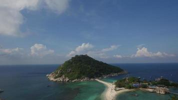 Zeitraffer der sich bewegenden Wolke - auf der Insel Koh Tao