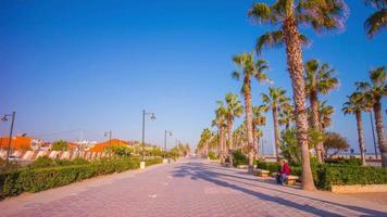 Spagna sole luce valencia città a piedi baia 4k lasso di tempo