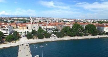 Aerial view of historic old town of Zadar