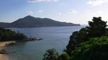 Tailandia laem sing beach famoso punto de vista panorama 4k phuket video