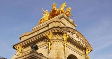 Parc de la ciutadella sul fontaine lumineuse top 4k barcelone espagne