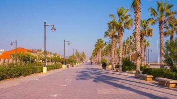 Spagna valencia mattina soleggiata a piedi spiaggia baia 4K lasso di tempo