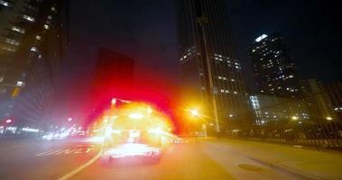città di auto lasso di tempo guida di notte 4K video