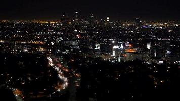 downtown los angeles di notte