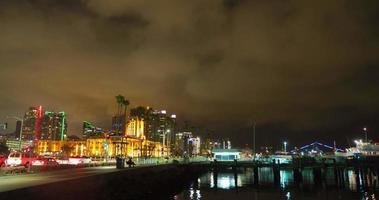 San Diego Nacht Waterfront Zeitraffer