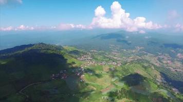 Tailândia chiang mai vista aérea da paisagem