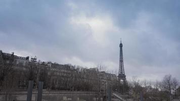 vista de paris durante o inverno video