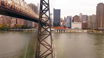View of The Queensboro Bridge and Manhattan New York City 4k video