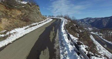 estrada da montanha de neve video