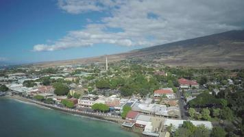 4k drone aéreo maui, hawaii, front st. lahaina video