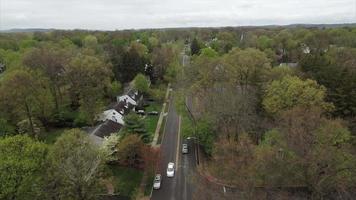 vista aérea da rua com intersecção em glen rock nj
