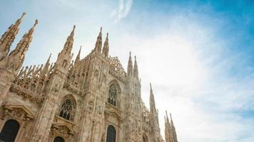 italy summer day milan famous duomo cathedral front top 4k time lapse video