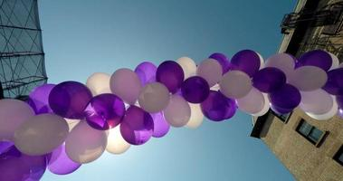 arco palloncini super slow motion 4K video