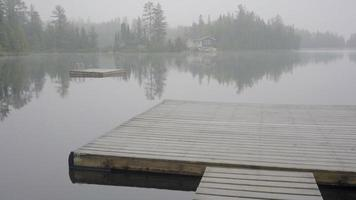 ontario canada désert forêt nature lac été jour brumeux mauvais temps matin