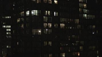 visão noturna de toronto do centro video