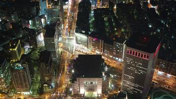 paisagem urbana de taipei à noite: lapso de tempo