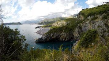 Dino Island and Blue Sea, Isola di Dino, Praia a Mare, Calabria, South Italy, Real Time, 4k
