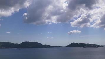 Thailandia giorno tempo phuket famoso patong spiaggia turistica crociera liner park panorama 4K video