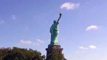 Back View of Statue of Liberty 4K video