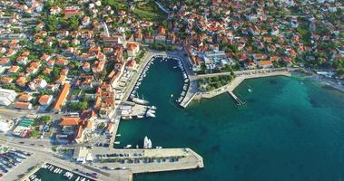 Aerial view of Supetar on Island of Brac