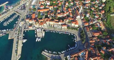 Aerial view of Supetar town, Croatia