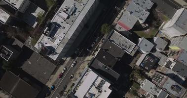 hoboken nj ripresa dall'alto cavalcavia di edifici e automobili video