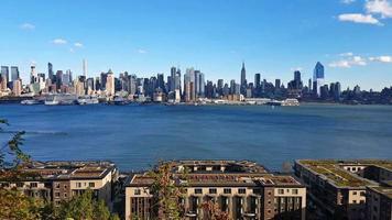Hudson River Panoramic Manhattan NYC Time Lapse 4K video