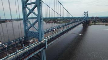 Benjamin Franklin Bridge in Philadelphia video