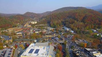 riprese aeree di gatlinburg, tennessee
