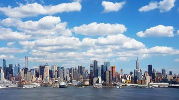 New York City Skyline and Clouds Time Lapse 4K video