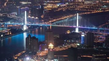 Shanghai Stadtbild 4k Zeitraffer