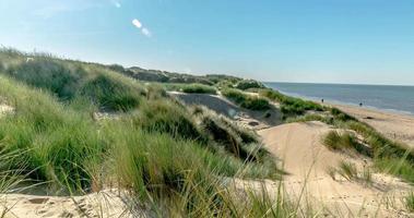 timelapse della spiaggia del banco di sabbia
