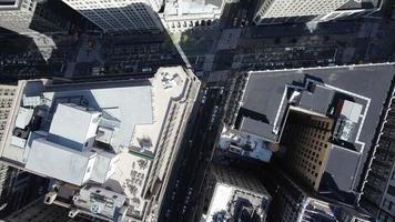 aérea de nyc ascendente e visualização da interseção video