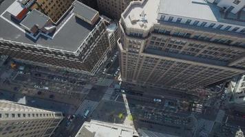 aérea de nyc com visão panorâmica do edifício video