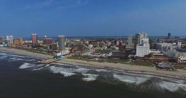 riprese aeree della città atlantica video