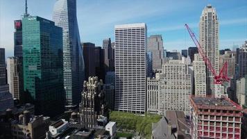 Midtown Aerial nyc sobrevoando a biblioteca 5th ave video