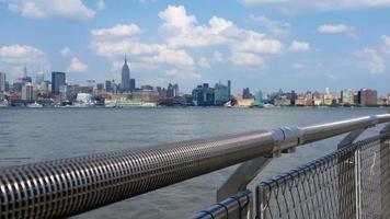 Manhattan View from New Jersey Pier 4K video