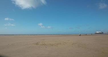Blackpool Strand und Turm Zeitraffer