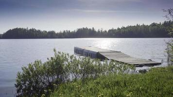 bacino di pesca estate ontario lago canada all'aperto video