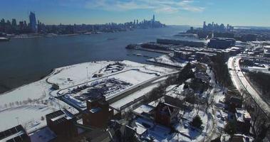 weehawken snow 2016 cavalcavia edifici e autostrada video
