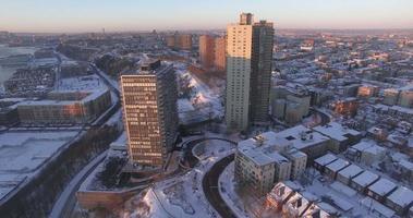 weehawken snow 2016 due grattacieli vista video