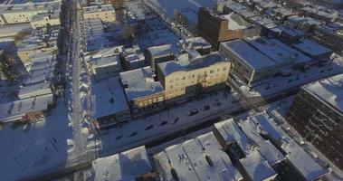 Weehawken snow 2016 veduta aerea con edifici video