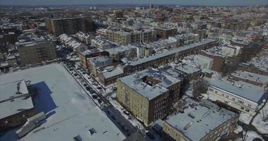 Weehawken snow 2016 vista aerea con edifici (diversa angolazione) video