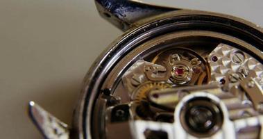 gros plan, de, horloge, pièces