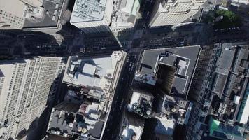 nyc foto aérea aérea de tráfego no centro video