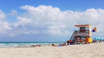 USA miami south beach giorno luce panorama 4k florida video