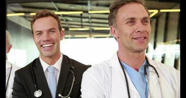 ritratto di sorridere team medico