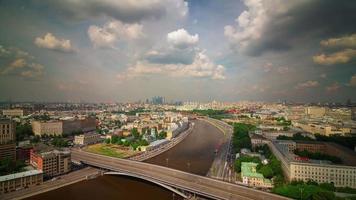 Russia estate giorno mosca fiume tetto panorama superiore 4K lasso di tempo video